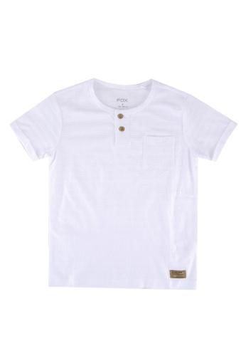 FOX Kids & Baby white Boys Short Sleeve Tee With Side Pocket F4536KA52511FAGS_1