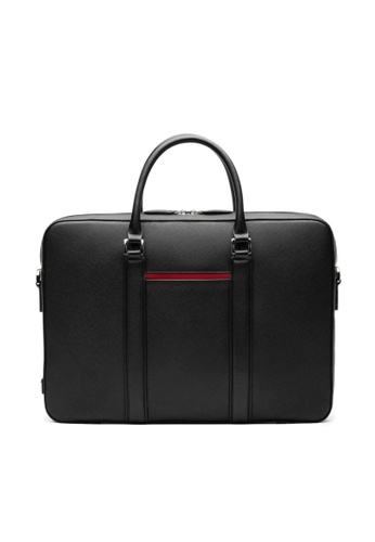 Maverick & Co. black Maverick & Co. Manhattan Leather Briefcase (Black) 9323CAC11F90DCGS_1