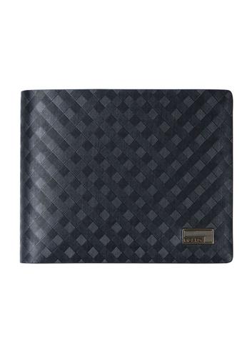 Picard black Picard Checker Men's Leather Bifold Wallet AC349ACF301006GS_1
