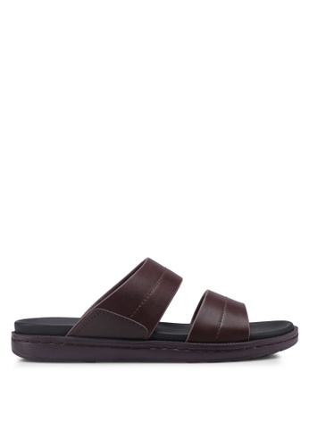 Bata brown Slide-On Flip Flops 54C2ESH9AEB2E7GS_1