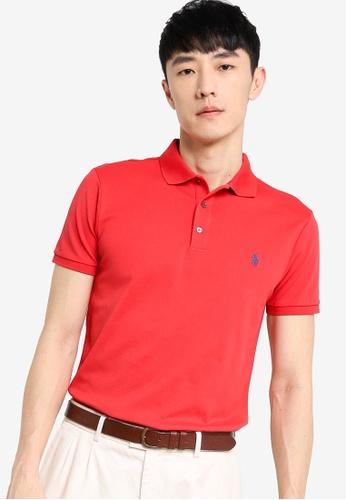 Polo Ralph Lauren red Stretch Mesh Polo Shirt 508E6AA9870EC2GS_1