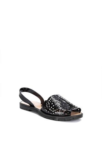 Reva black Ginny Flat Sandals FDA0CSH31006DDGS_1