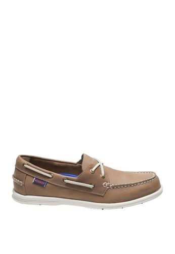 Sebago brown Litesides Two Eye Boat Shoes SE328SH0J65APH_1