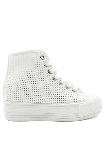 Twenty Eight Shoes white Breathable Platform sneaker TW446SH43IIEHK_1