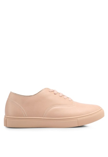 ZALORA beige Classic Lace Up Sneakers FFF05SH6617CAAGS_1