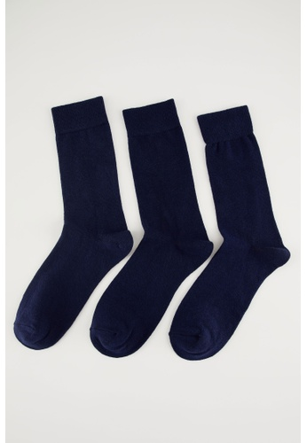 DeFacto navy Man 3-pieces Socks 81FD2AA1BE333AGS_1