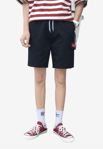 hk-ehunter 黑色 男士休閒短褲 2E97EAA5288153GS_1