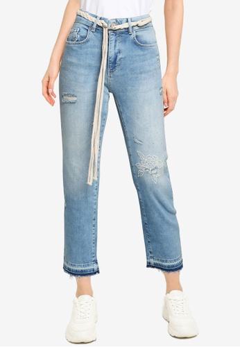 Desigual blue Slim Cropped Jeans ED9FCAAF89E1E5GS_1