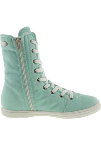 Maxstar Maxstar Women's 8119 Hidden Heel Canvas High Top Shoes US Women Size MA168SH93ZWWHK_1