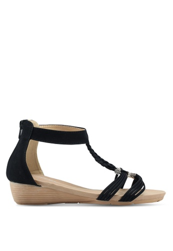 Mimosa black Braided Sandals 4F2F2SH1106754GS_1