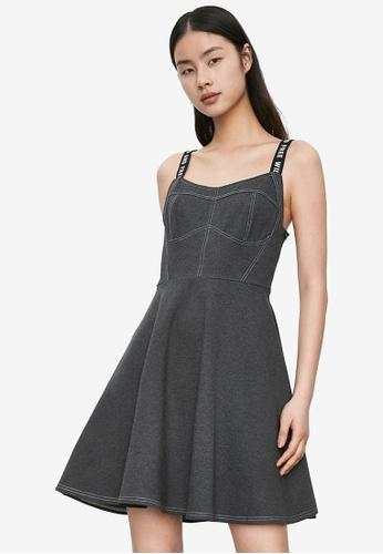 URBAN REVIVO grey Casual Dress 0EE29AA90B8158GS_1