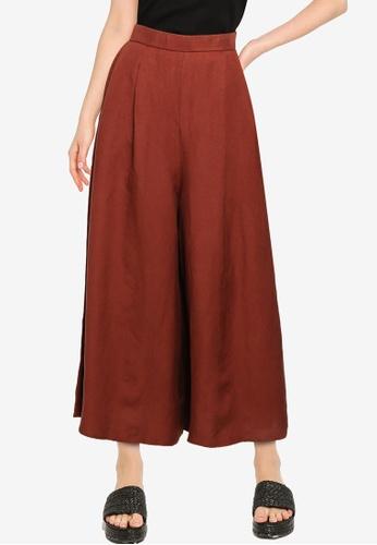 GLOBAL WORK brown Casual Woven Pants 986E6AA141C16EGS_1
