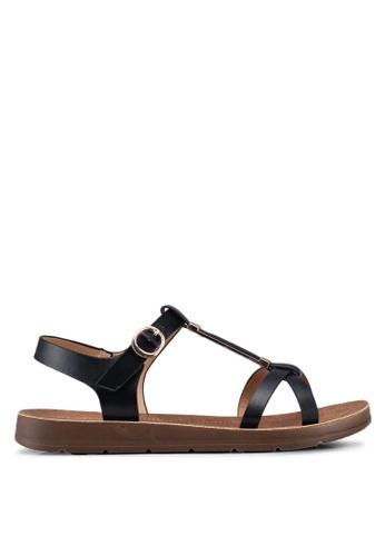 Bata black Metal Hardware Strappy Sandals 566D8SHDBD802FGS_1