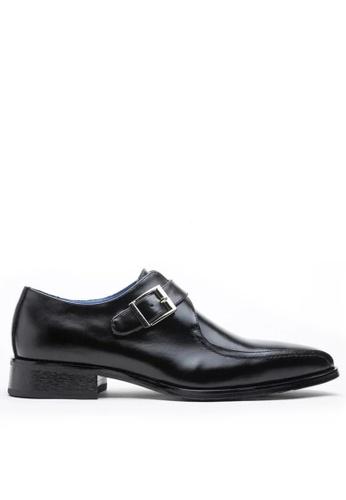 Twenty Eight Shoes black Leather Monk Strap Shoes MC1229-2 1A13FSHDE0E3E5GS_1