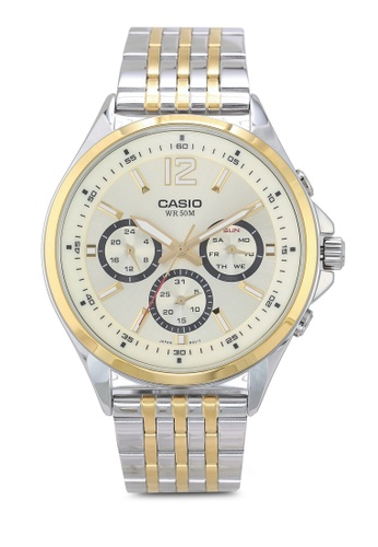 Casio silver and gold Casio MTP-E303SG-9AVDF Watch 7C0B8AC0D635CAGS_1