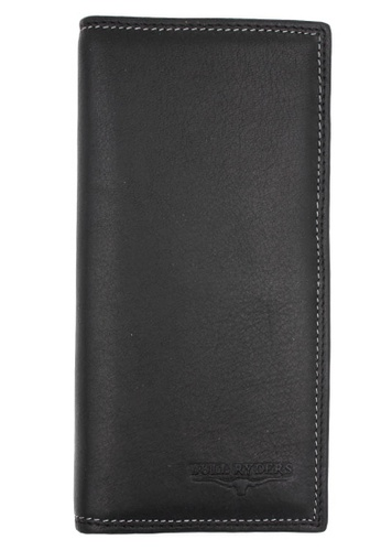 midzone black Genuine Leather Long Wallet MI949AC0SCQRMY_1