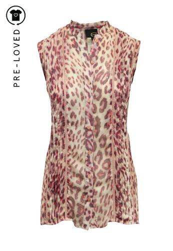 Just Cavalli multi Pre-Loved just cavalli Animal Print Long Sleeveless Shirt 8BC0EAAFB4B34EGS_1