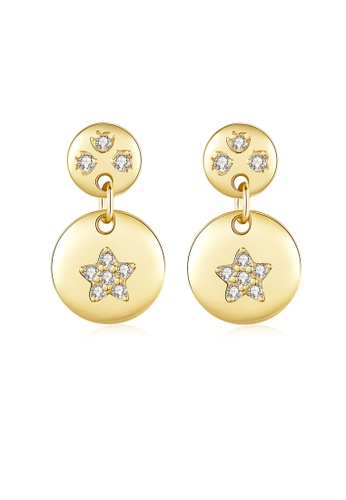 SUNRAIS gold High quality Silver S925 gold simple design earrings 7EB5BACE762953GS_1