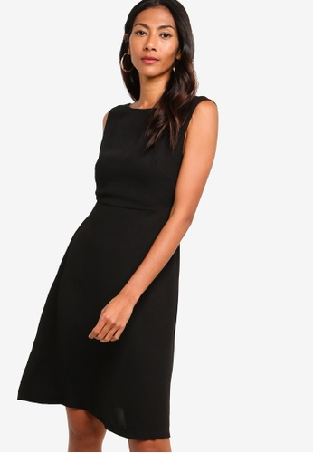 ZALORA BASICS black Basic Fit And Flare Dress DB81EAACB664C2GS_1