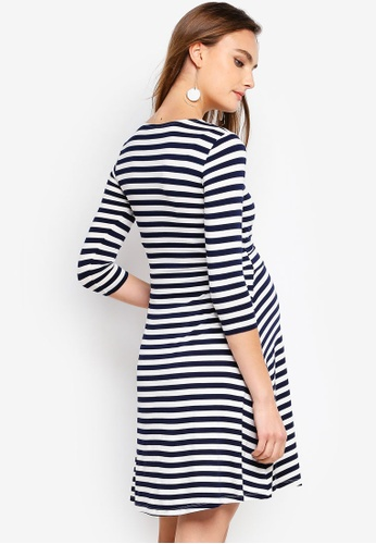 59393e9c1c7f7 Buy Seraphine Nadia Nautical Maternity Stripe Nursing Dress Online on  ZALORA Singapore
