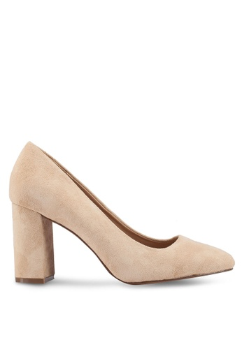 Banana Republic beige Square Toe Block Heel Pumps FFABFSHBFA09EDGS_1