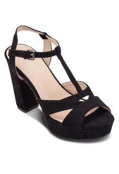 T-Strap Platform Heel Sandals