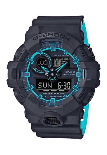 CASIO blue Casio G-Shock Aqua and Navy Resin Watch FB277AC26D8A45GS_1