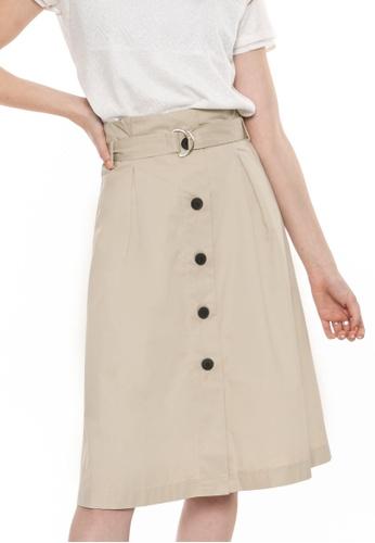 Paperdolls beige Finley A-Line Skirt 5CE36AA66292D3GS_1