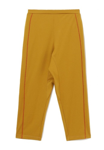 b+ab yellow Piped track pants E9505AA00C890CGS_1