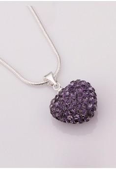 Violet Heart Shamballa Necklace