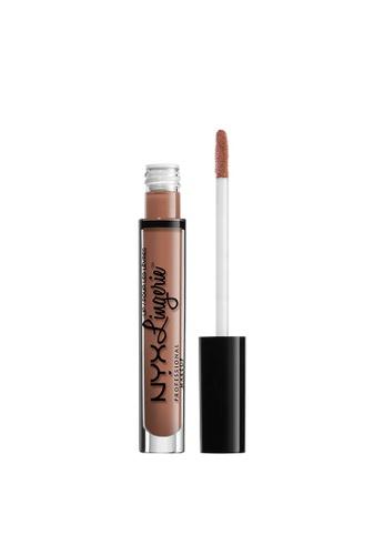NYX Professional Makeup brown NYX Professional Makeup Lip Lingerie Liquid Lipstick - BABY DOLL 03B01BEB6289D8GS_1