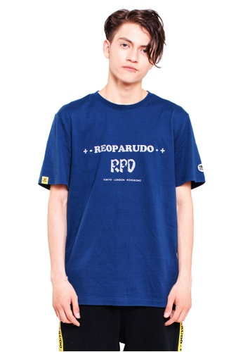 Reoparudo blue and navy RPD Reflective Print 331 Edition Tee (Navy Blue) EDD9EAAEF20340GS_1