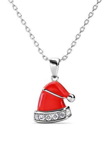 Her Jewellery silver Christmas Hat Pendant -  Made with premium grade crystals from Austria FA940AC50FF350GS_1