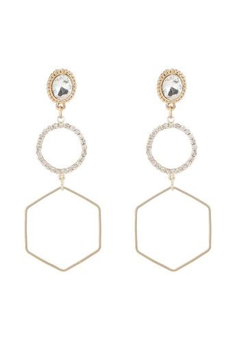 Red's Revenge gold Gold Frames Statement Earrings CBC1FAC31C0F4DGS_1
