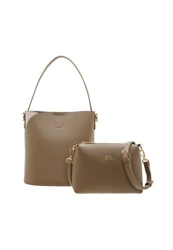 Valentino Creations brown Valentino Creations Marriton Handbag & Slingbag 2 in 1 Set 8688EACF26C4ADGS_1