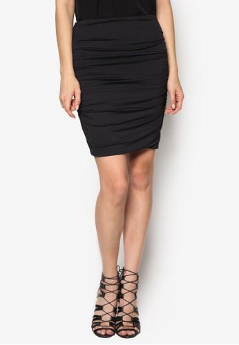 側抓褶迷你短裙,esprit服飾 服飾, 裙子