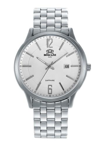 Roscani silver Roscani Justin 413 (Sapphire Crystal + WR 5ATM) Stainless Steel White Bracelet Women Watch C6C6DAC1D18E82GS_1