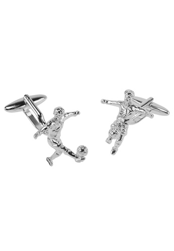 CUFF IT silver Football Player Cufflinks CU047AC2UQPVHK_1