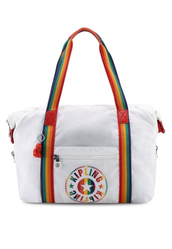 329b87ba5f Shop Kipling ART M Rainbow White Tote Bag Online on ZALORA Philippines
