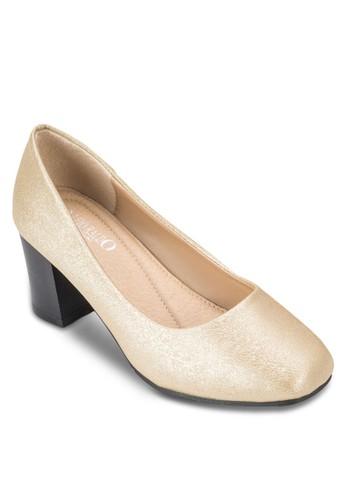 esprit 台北經典方頭粗跟鞋, 女鞋, 厚底高跟鞋