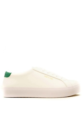 CDE white CDE Ceremonial Men Sneaker White/Green (Zalora Sepatu Pria Sneakers Putih/Hijau) FE001SH66B15D8GS_1