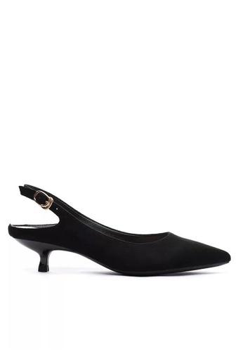 Twenty Eight Shoes 黑色 繞踝帶幼踭鞋295-30 4F06BSH45809D8GS_1