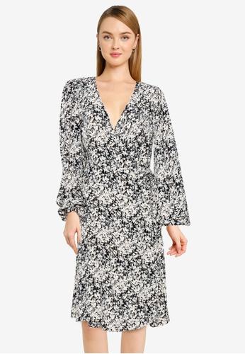 Vero Moda black Chello Wrap Dress 8F59FAA511C9D3GS_1