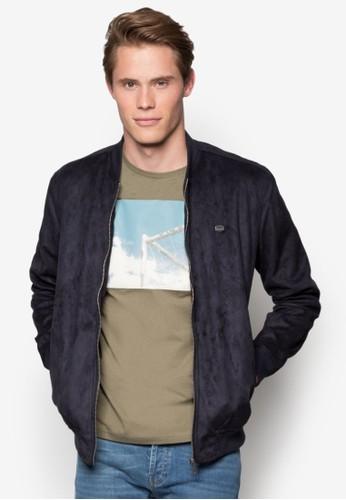 麂皮拉鍊棒球外套, 服飾, 休閒外套及esprit outlet 台灣風衣