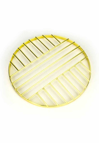 Slique gold Signature By Premium Metal Gold Electroplate Trivet For Hot Dish 2BFCDHLE748F8FGS_1