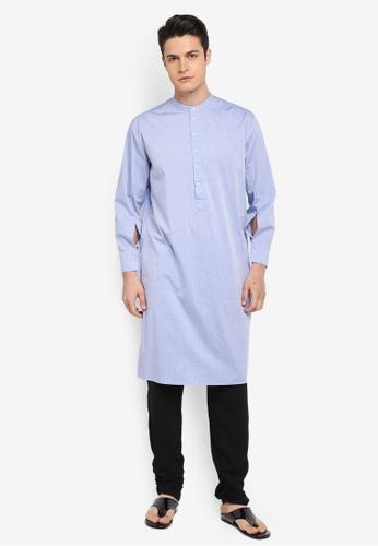 Rizalman for Zalora blue Gupta Top Angharka Shirt RI909AA0SF05MY_1