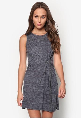 扭結zalora是哪裡的牌子混色無袖連身裙, 服飾, 洋裝