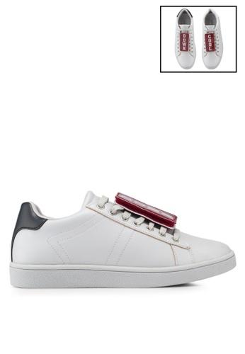 Something Borrowed 灰色 補丁印花 運動鞋 3EE62SH197F625GS_1