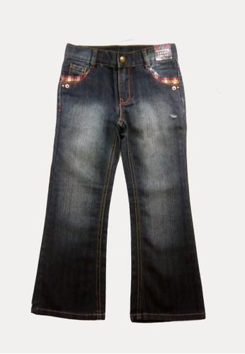 Bossini navy Bossini Kids Girl Long Pants Indigo (94412403052) CB5F7KA8FA658BGS_1