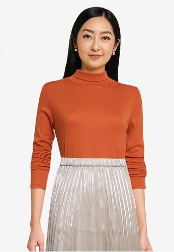 LOWRYS FARM orange Turtleneck Pullover C4E4AAADEBA2EBGS_1